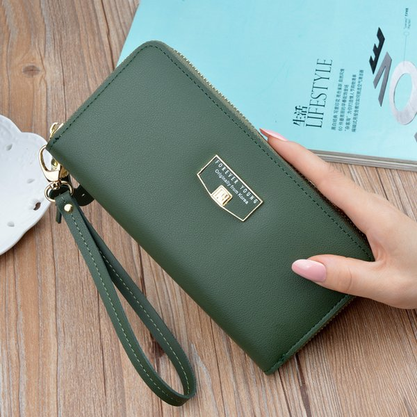 new fashion women wallet purse fashion casual long phone wallet business female clutch wallets pu leather card purse girl (478715217) photo