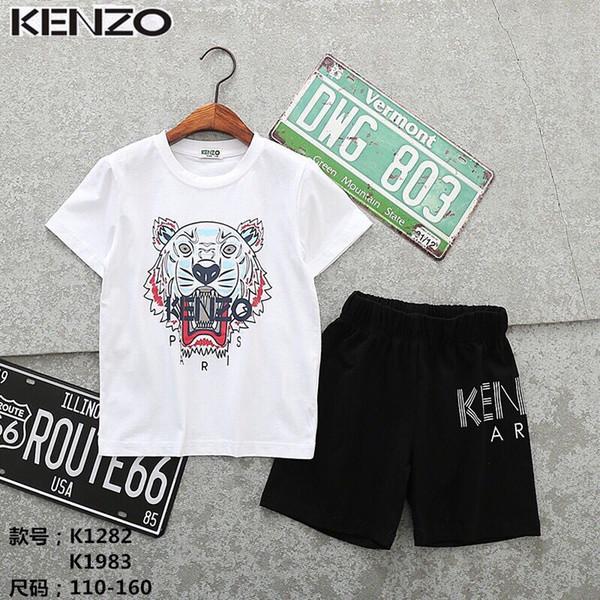 Детские комплекты 2-8T Детские футболки и шорты 2шт / комплекты 9 цветов Детские спортивные комплекты Мальчики Девочки Летние брюки