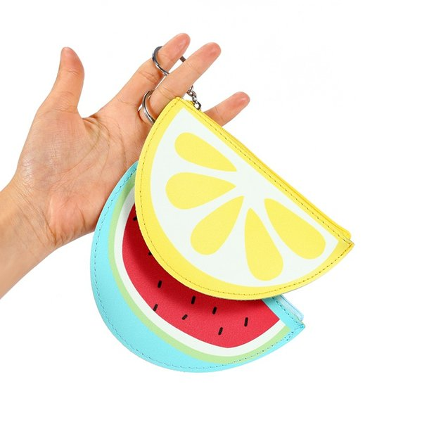 2017 fruit fun purse watermelon coin pocket coin bag girl purse multi-functional wallet (530429768) photo
