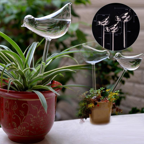 11*5cm bird shape house plants automatic self watering devices glass plant flower water feeder watering clear cute home decor (502068570) photo