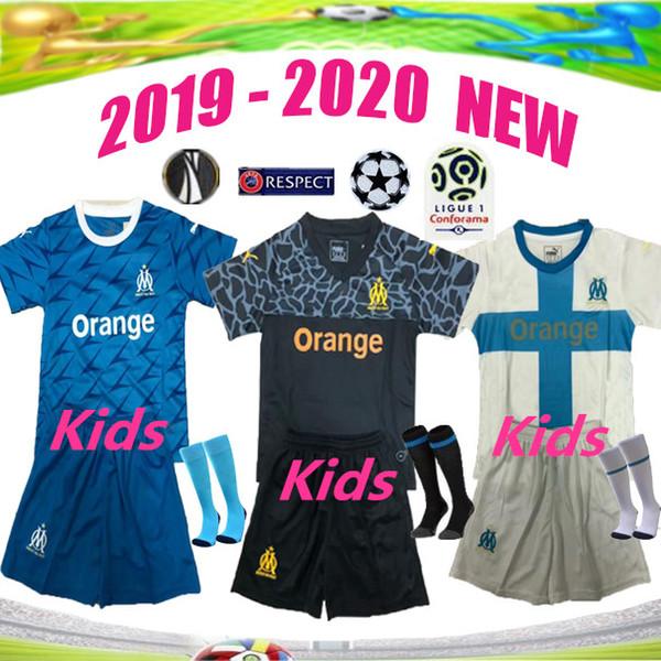 Olympique de Marseille Kids home away third jersey 19 20 OM Maillot De Foot PAYET L.GUSTAVO THAUVIN child jerseys 2019 2020 Marseille shirts