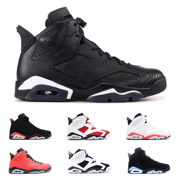 INFRARED мужские 6 6s баскетбольные кроссовки Carmine UNC MAROON BLACK CAT oreo Toro мужчины дизайнерск