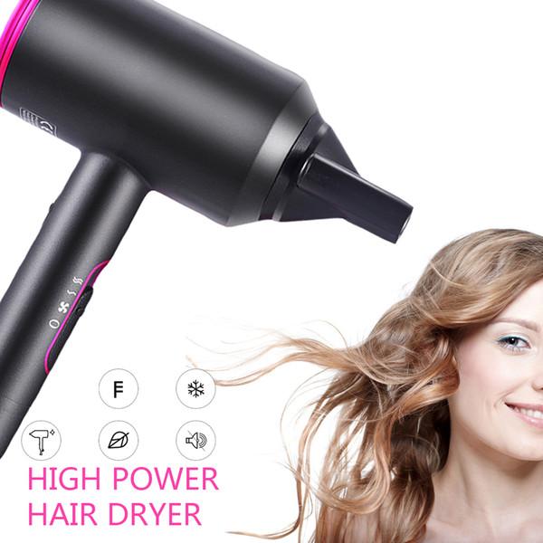 2000 Вт профессиональный салон фен 2 в 1 Горячая воздушная щетка Фены для волос отрицательный ионный фен для волос сильный ветер горячий фен фото