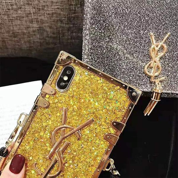 Оптовая Французский бренд Мода Алмазный Блеск Bling Чехол для Телефона Для iPhone X 6 s 7
