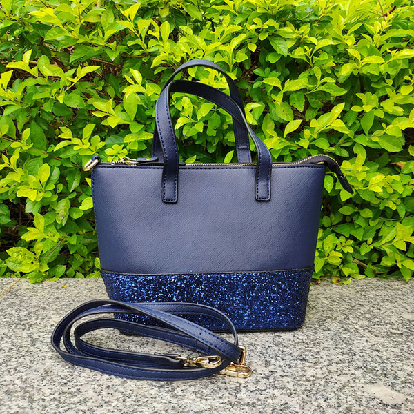 brand designer glitter purses women shoulder bag grey crossbody bags handbags totes purses patchwork (458812874) photo