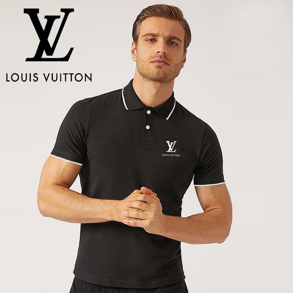 2019 новая мужская футболка с короткими рукавами Luxury POLOS фото