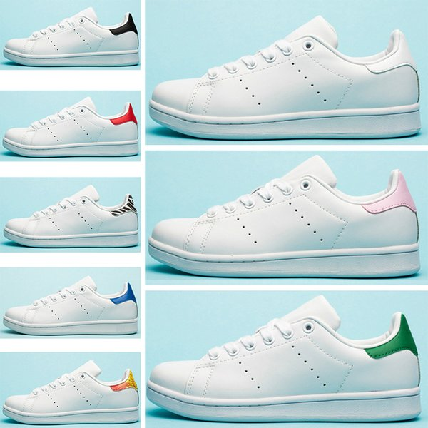 2019 de igner tan flat women men ca ual hoe triple white black zebra green blue leather mith trainer port neaker 36 45