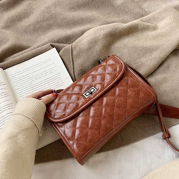 lady shoulder bags hobo handbag purse fashion crossbody handbag samll ladies pu leather wallet checkered bag (544192763) photo