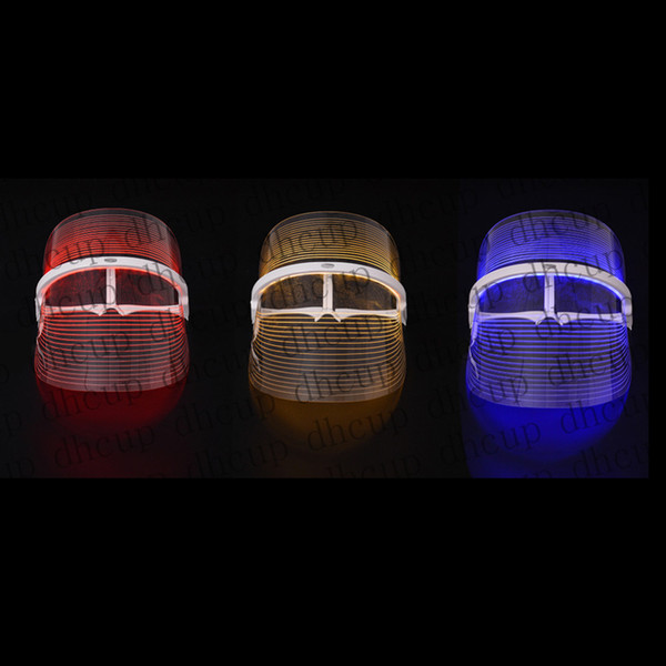 New 3 color led light therapy face ma k beauty in trument facial pa treatment device anti acne wrinkle removal