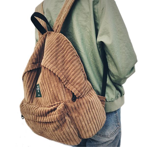 Рюкзак школьный женщины школьный рюкзак сумки вельвет рюкзак подростковые рюкза фото