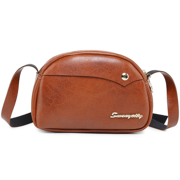 2019 fashion women bag pu leather messenger shoulder crossbody bags small retro bag purse handbag pretty high quality (528129283) photo