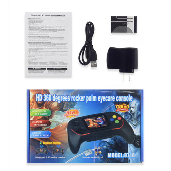 16 bit handled game player bluetooth 2 4g online combat hd rocker palm eyecare con ole can tore 788 game for kid