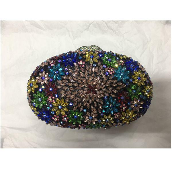 handbags crystal clutch evening bag for women metal floral bridal wedding clutch purse handbags and purse (548437686) photo