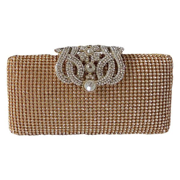 dazzling rhinestone encrusted evening bag clutch purse party bridal prom (549973808) photo