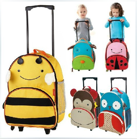 Wholesale suitcases Cartoon multiple fuction kids rolling luggage Children Trolley school bag suitcase travel bag Primary school bag camping bags