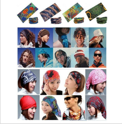 multifunctional headwear - 12PCS Mixed Batch Multifunctional Headwear Neck Bandana Multi Scarf Tube Mask Cap Large Number of Style Retail