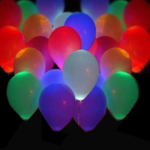 led balloons - 100 Pack LED Hellium Air Mixed Colors Balloons Wedding Decoration Party Light Up Toys Party Supplies
