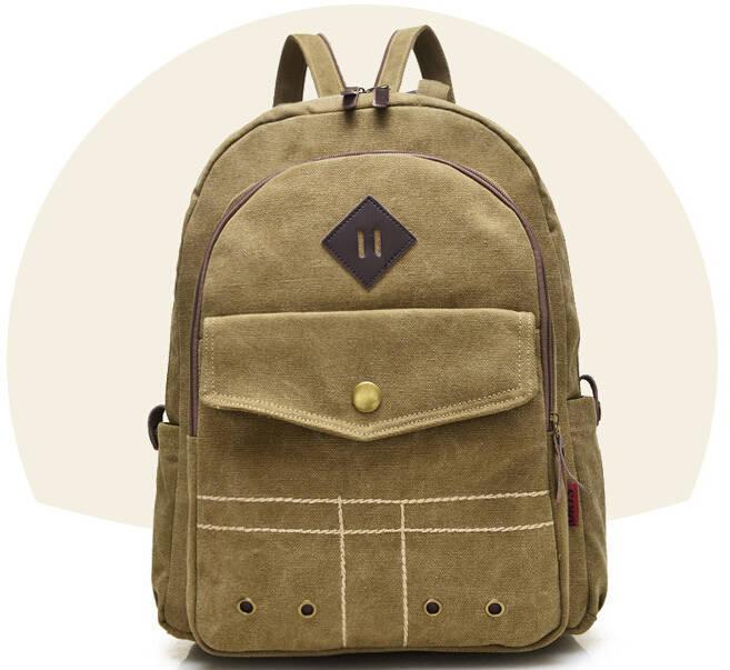 Wholesale Hot Sale Men Women Unisex Vintage Canvas Backpack Outdoor High Quality Teenagers School Bag Sports Chest Bag Lona Mochila F134