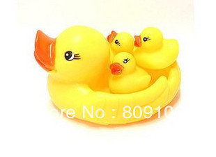 Cheap wholesale retail, Duck bath toys duck mother and son combination small bath toys ,free shipping