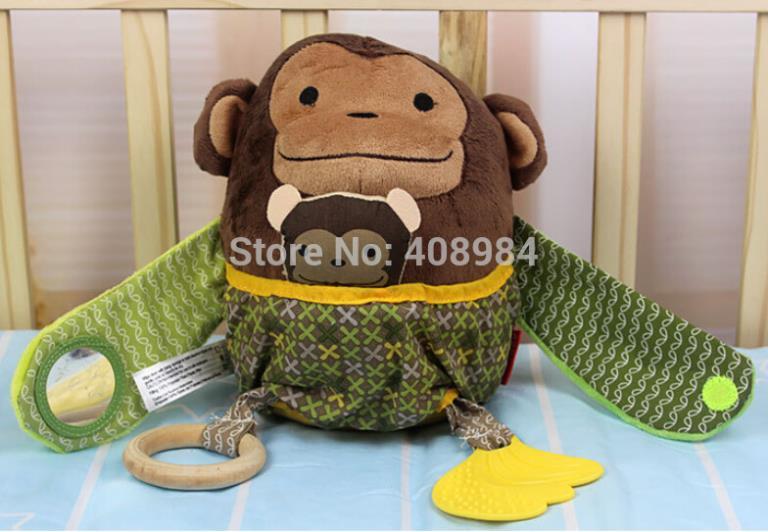 (2 pièces / lot) drôle mère singe en peluche et une poussette pour enfant jouet bébé Câlin Masquer Activité Peluche dentition à partir de étreindre jouets en peluche fournisseurs