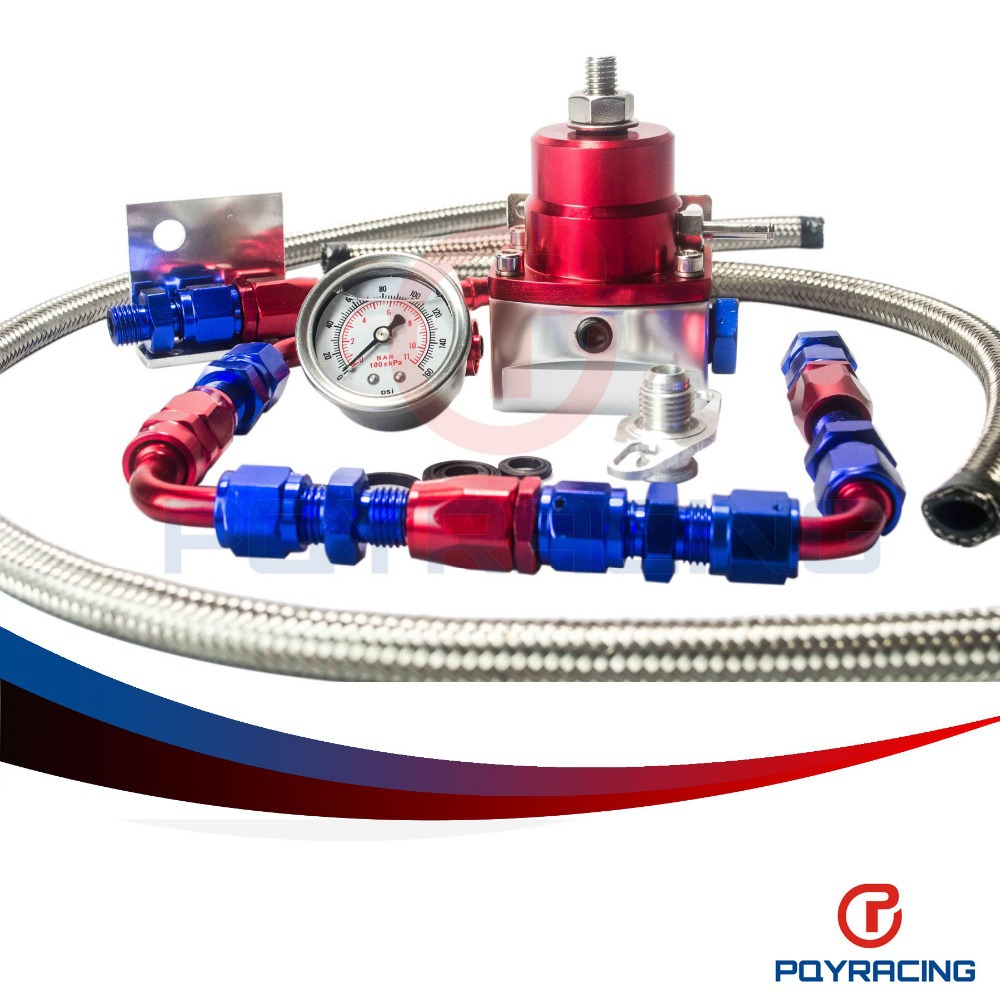 Fuel Pressure Regulator auto hoses - PQY STORE Universal auto fpr AN6 Fittings fuel pressure regulator For MGTE MKIII with hose line Fittings Gauge PQY7843WL