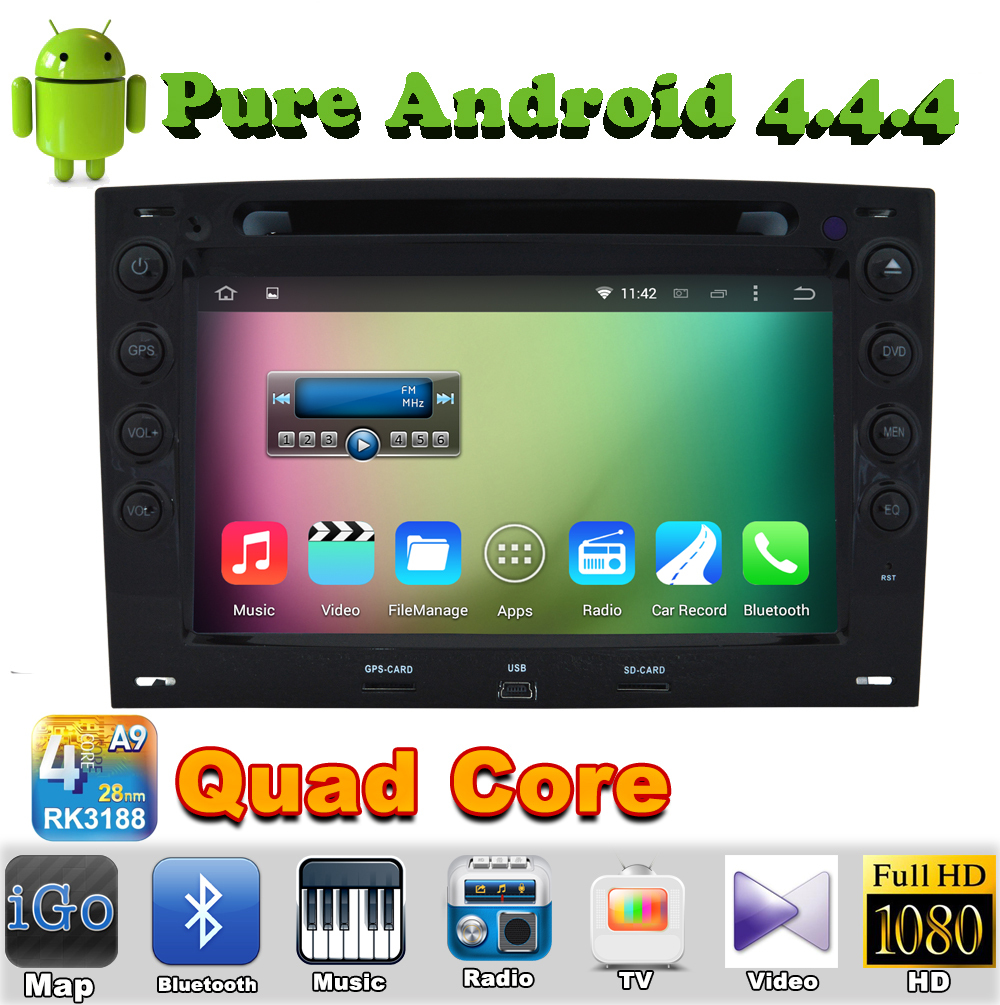 renault megane 2 - 7 quot din Quad Core Android Car DVD Automotivo For Renault Megane with GPS Car Radio Bluetooth