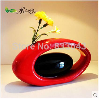 Wholesale Modern Ceramic Vases for Home Decor White black red Color gifts