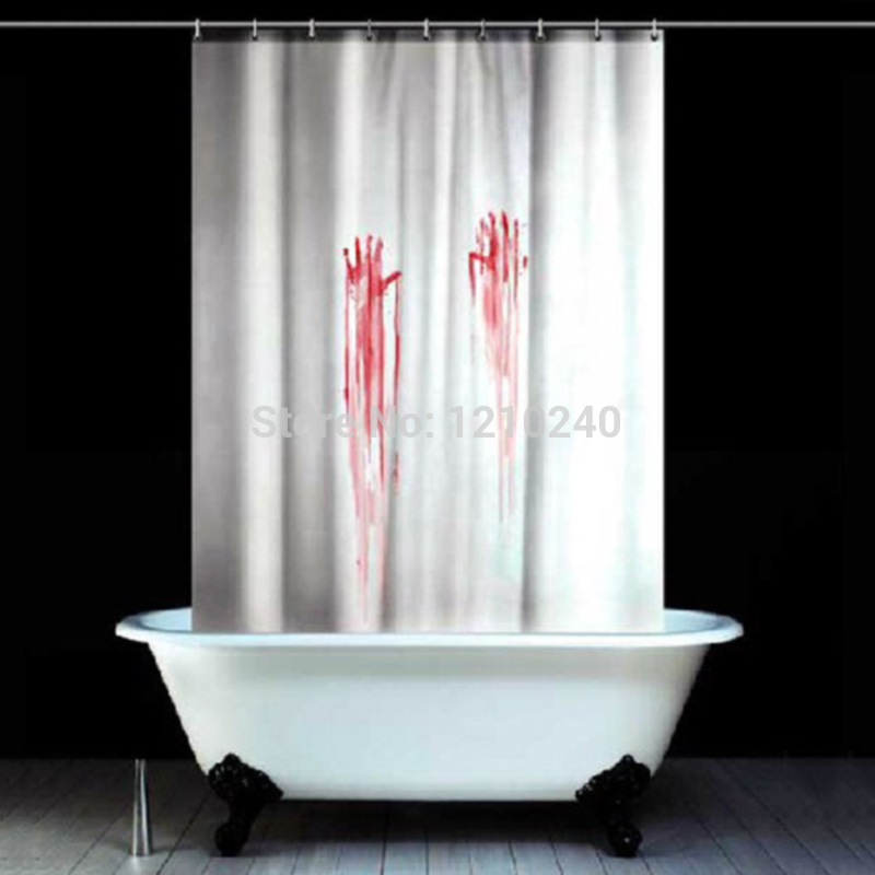 Wholesale Shower Curtain New Creative Fashion Blood Handprint Pattern Polyester size CM more defferent style for choose