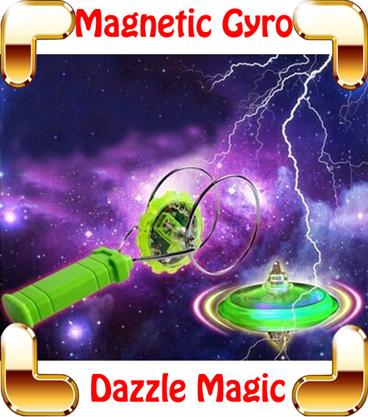Wholesale New Arrival Gift Dazzle Magnetic Gyro Flashing Magic Spinning Top Electric Toys For Boys Stunt Hot Wheel Flexibility Game Toy