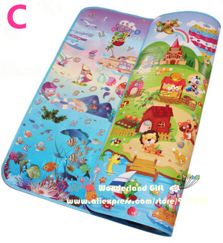Wholesale New classic playmat double Site Baby Play Mat Child Beach Mat Picnic Carpet Baby Crawling Mat lovely styles baby kids toys