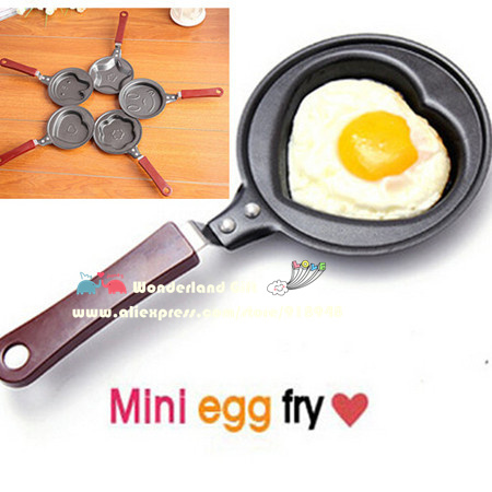 Wholesale NEW piece cast iron heart rabbit shape egg fry Novelty Breakfast funny side up eggs Mold cooking tools christmas supplies