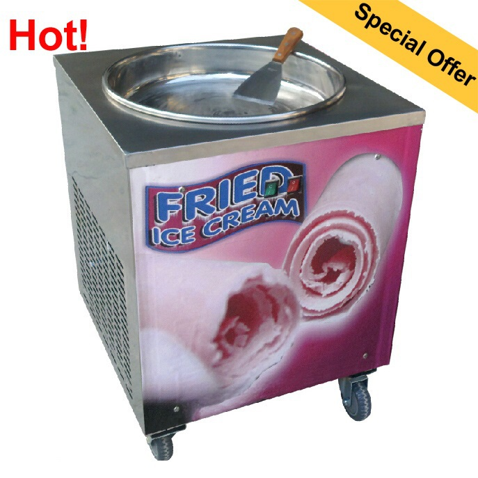 Wholesale Hot sale Fried ice cream machine with single pan and Stainless Steel freeze milk ice pan machine