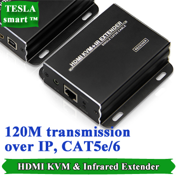 Wholesale New Arrival M HDMI KVM IR Remote Extender Over IP LAN or CAT5e Receiver Transmitter KVM HE101