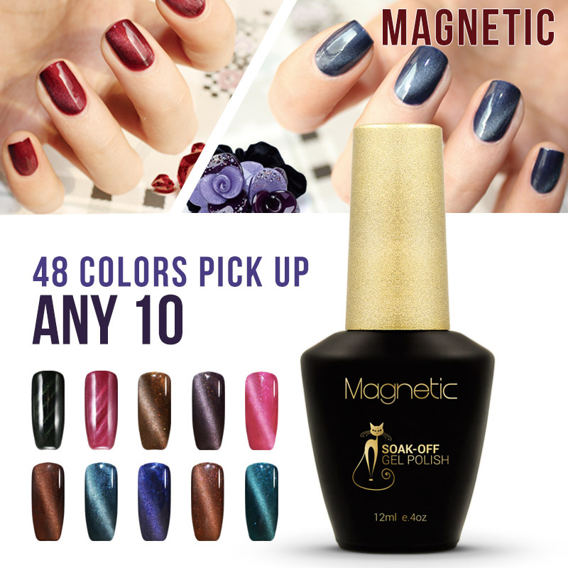magnetic nail polish - Brand Azure magnetic UV gel Primer Foundation Nail Gel Polish primer magnetic UV Cat eyes gel UV lamp gel
