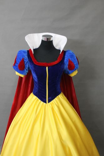 Wholesale 2015New Adult Princess Snow white Costume Ladies Fairytale Party Dress