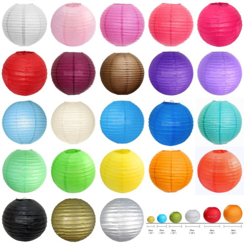 "Cheap New 10 Pack of 8"" 10"" 12"" 14"" 16"" Paper Lantern Chinese Decoration Wedding Party free shipping"