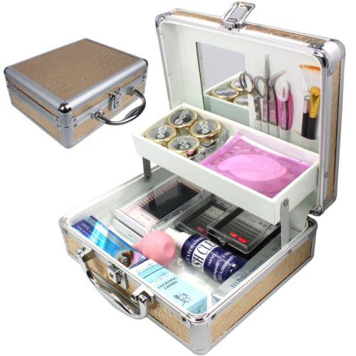 eyelash extension kit - Pro False Eye Lashes Eyelash Extension Glue Removal Kit Tools Set makeup Case DIY False Eyelashes set