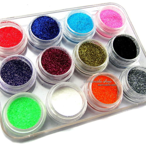 acrylic powder color - New MIX COLOR GLITTER DUST POWDER DECORATION NAIL ART ACRYLIC UV GEL TIPS