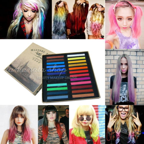 Wholesale Mew Colors Fashion Hot Fast Non toxic Temporary Hair Chalk Dye Soft Pastel DIY Tools