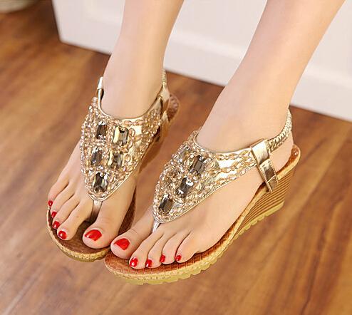 Cheap sandals shoes Best beaded rhinestone