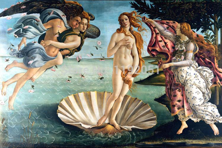 Wholesale canvas painting nude picture vintage poster landscape prints beauty art pictures Sandro Botticelli Birth of Venus home decor