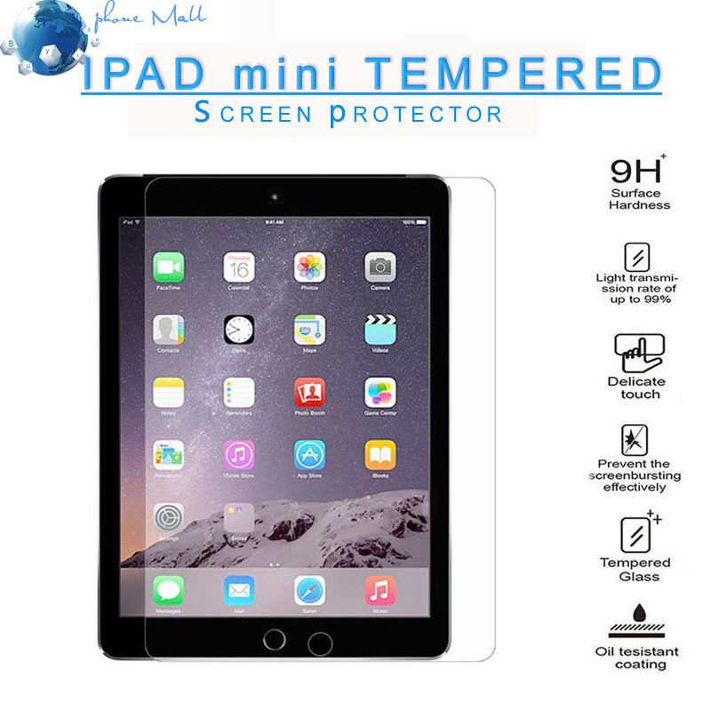 Wholesale For iPad mini Screen Protector Premium Clear Tempered Glass Screen Protector with retail packaging DHL free ship
