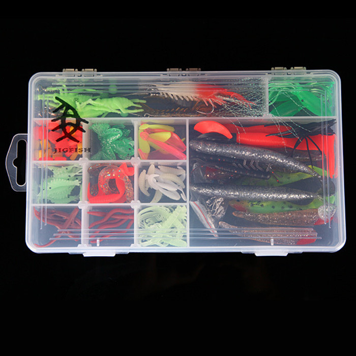 Wholesale Professional Whole Sale Pieces Soft Fishing Lures With Big Layer Retail Box Well Packed For