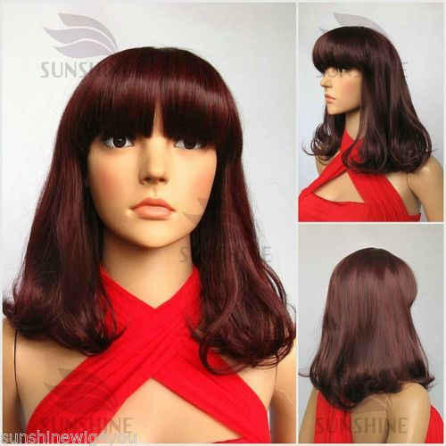 Cheap Promotion Discount wig good quality Women wigs Cheap Burgundry color Lady Wig In stock