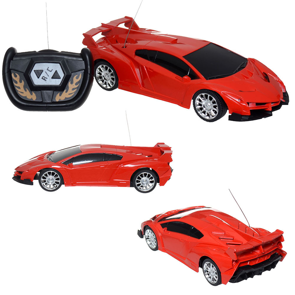 Wholesale Super Racing Car RC Speed Radio Remote Control Sports Car Motor Xmas Gift Kid DHL freeshipping