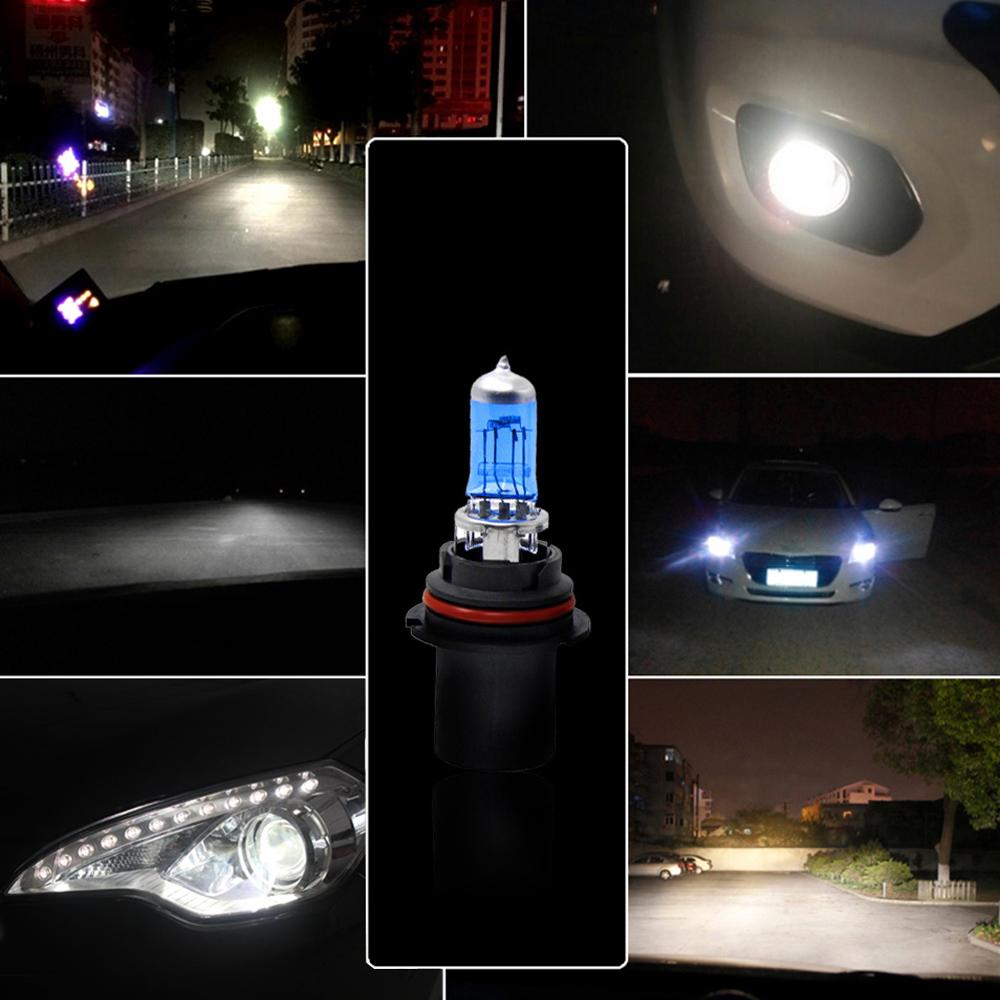 2Pcs 45 / 65W halogène 9004 5000K véhicule Phare phare de voiture ampoule lampe de Super White Light Source K3130