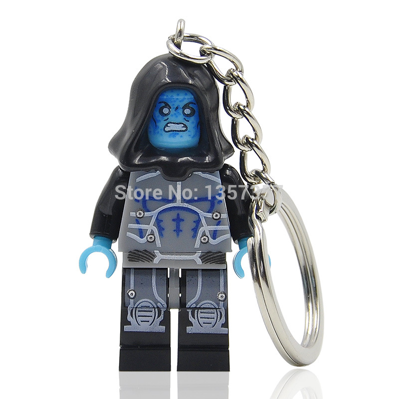 Wholesale 5pcs XINH Electro Minifigures Keychain For Keys Custom Ring Keychains DIY Handmade Key Chain Building Blocks Toys