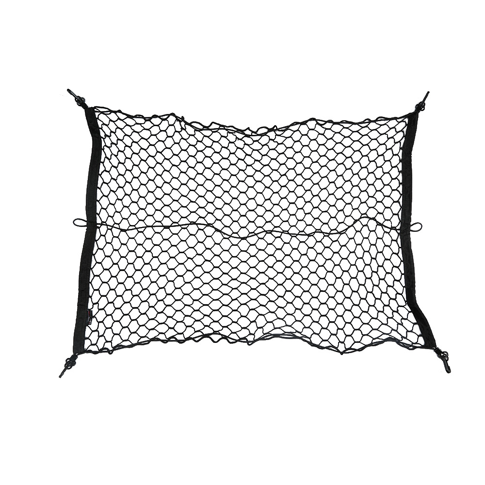 Wholesale 100 cm Car Cargo Net Trunk Interior Mesh Net Storage Bag Car Tidying Luggage Holder with Hooks K3193
