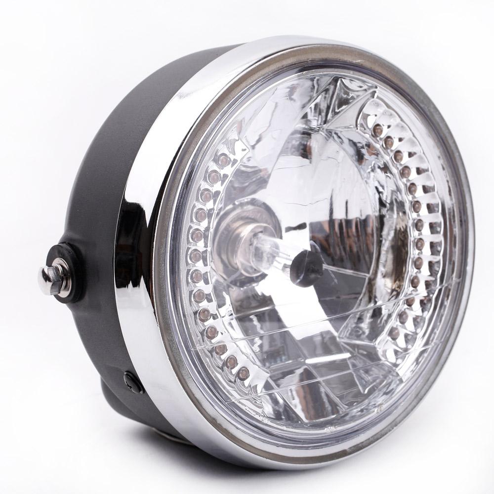 "Wholesale Choppers Bike - 8"" 35W Led Motorcycle Headlight LED Turn Signal with H4 Bulb 26 LEDs for Harley Bikes   Curisers   Choppers   Custom Bikes K2551"