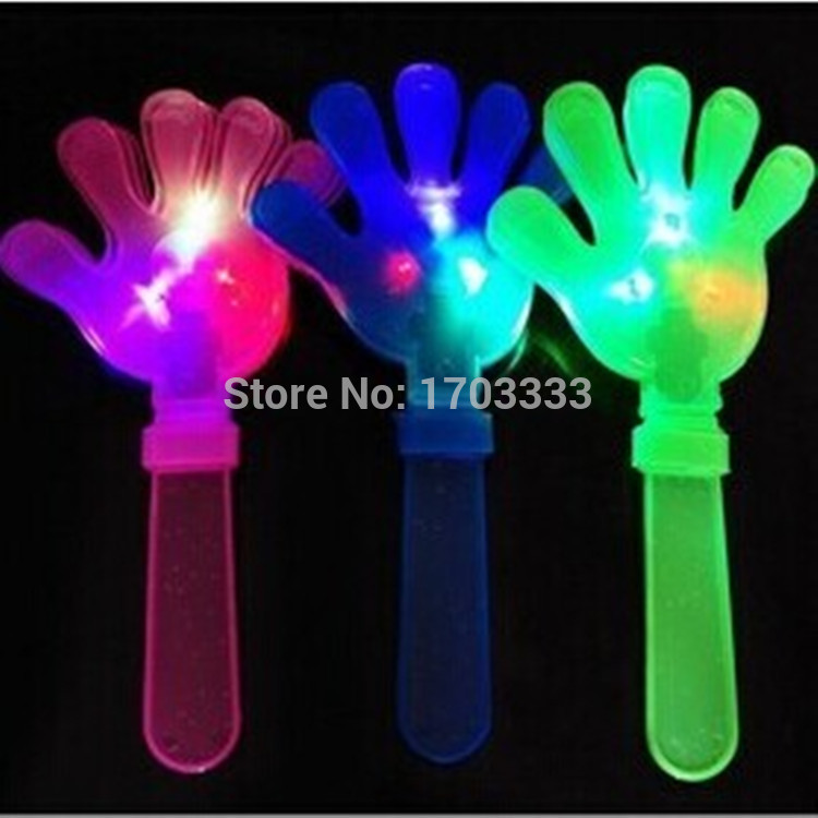Wholesale LED Flash Light Color Changing Hand Clappers clacker Clap Noisemaker Favors Cheerleading football brazilian fancy Toy